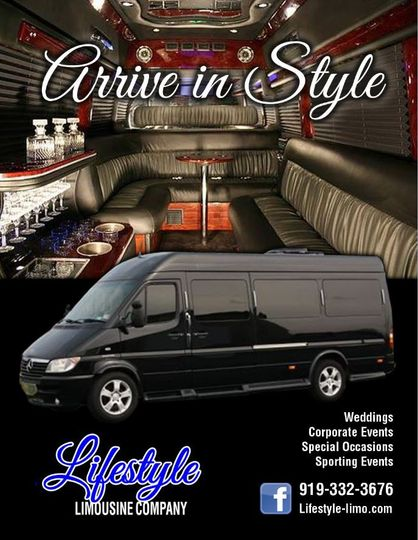 Mercedes Sprinter Limo Party Van that holds 10 people.