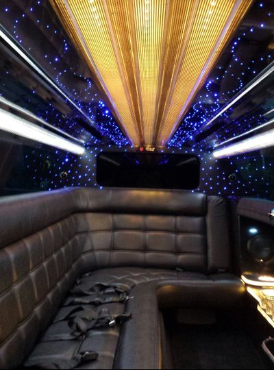 Inside of the new Chrysler 300 Stretch Limousine.
