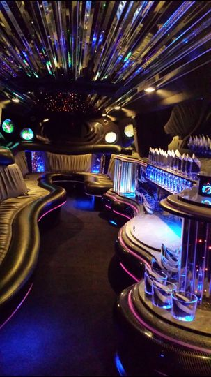 Inside our Cadillac Escalade that holds 18 to 20 people.