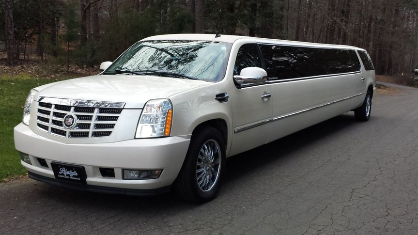 This is our Cadillac Escalade that holds 18 to 20 people.
