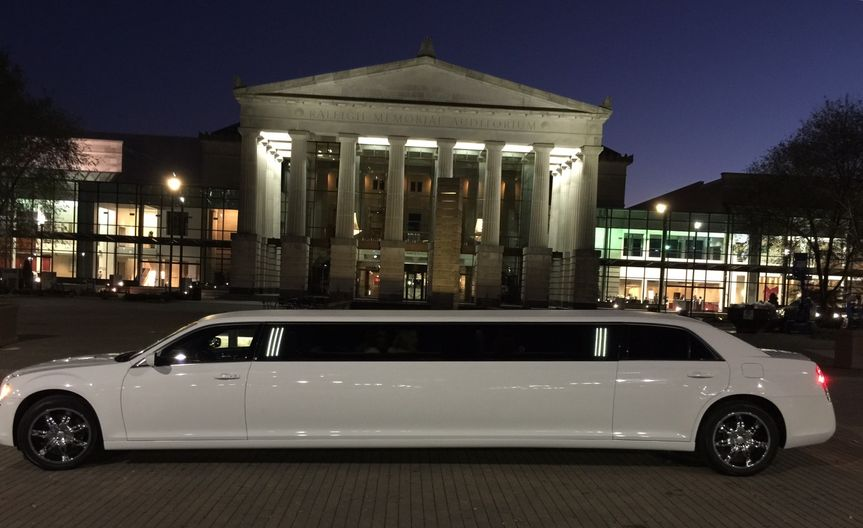 Chrysler 300 Stretch Limousine holds 9 to 10 passengers.