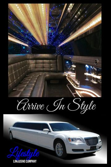Our Chrysler 300 Stretch Limousine that holds 9 to 10 people.