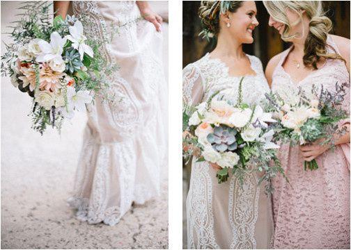 bhldn bridal gown blush pink bridesmaid