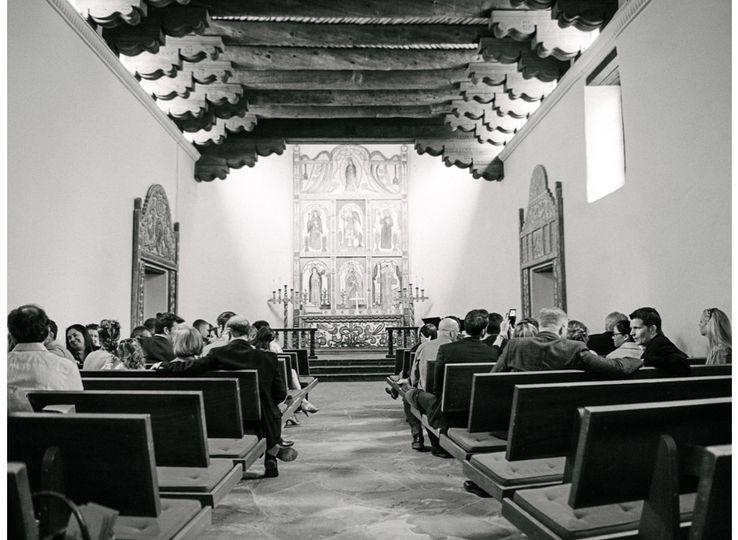 black forest wedding la foret chapel colorado