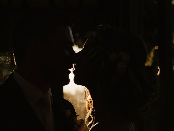 Tmx Silhouette Of Bride And Groom About To Kiss 51 558534 1567106786 Middleton, WI wedding photography