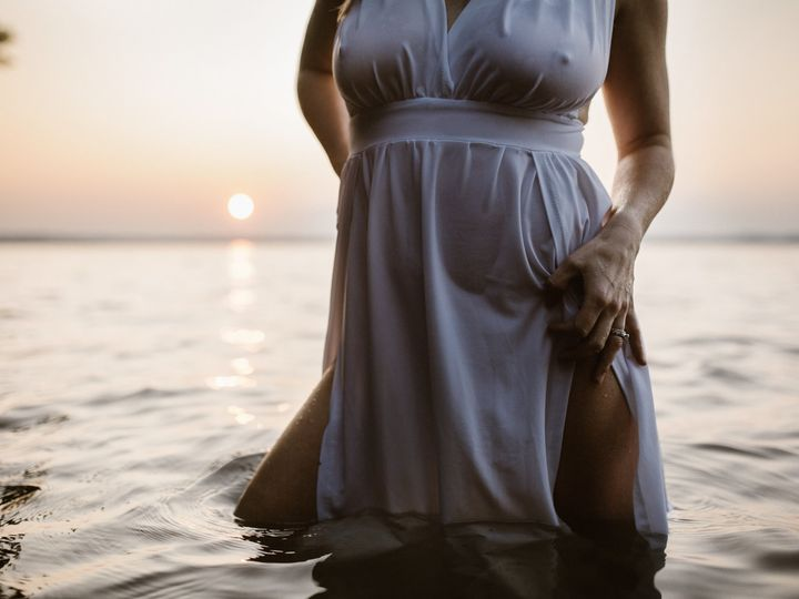 Tmx Woman In A Wet Gown Intimately Lifting Her Leg Slit In A Lake At Sunset 51 558534 1567107368 Middleton, WI wedding photography