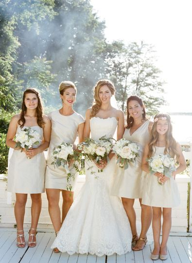 bridesmaids in pale taupe 600x819