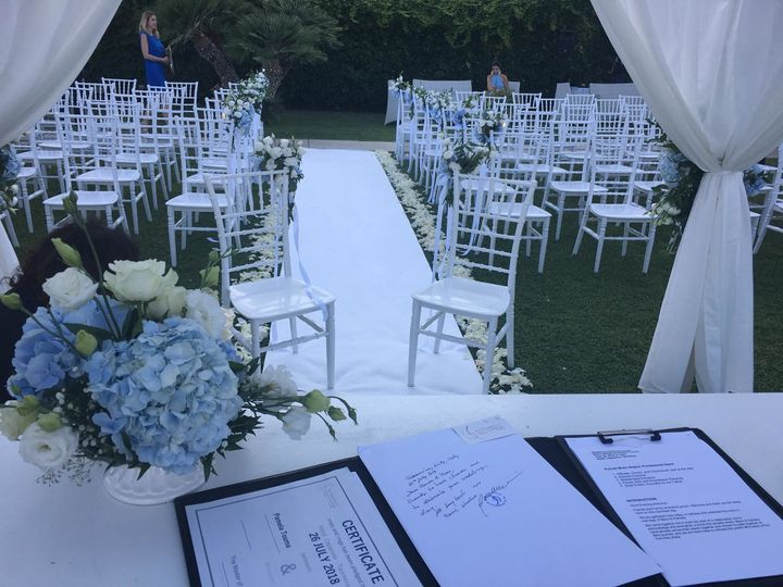 Officiant's script and the wedding venue