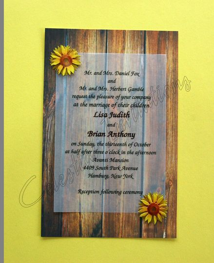 sunflowers on barnboard inv with emb 1