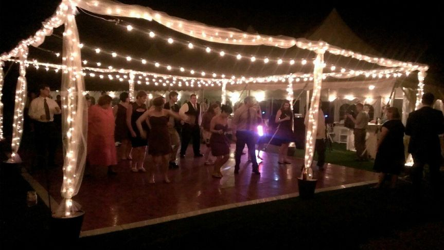 Wedding dance party outside
