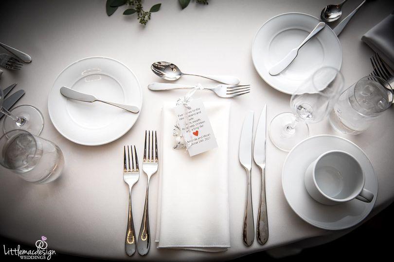 Table plating arrangement