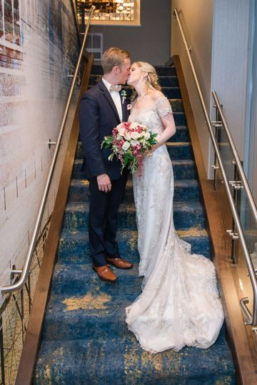 Couple at staircase