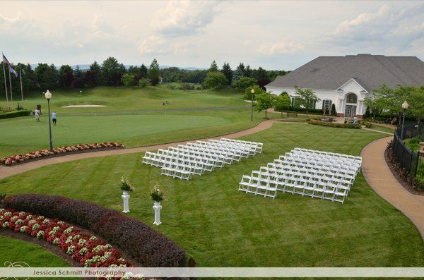Outside Ceremony Set Up