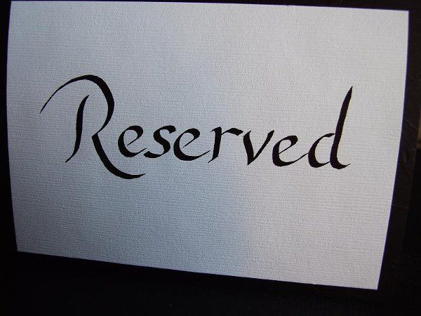 Reserviced signs