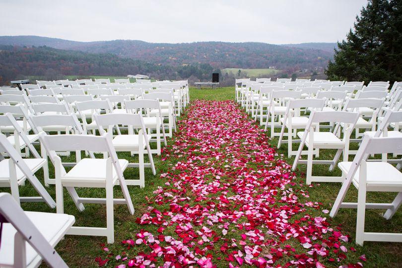 Floral aisle ceremony