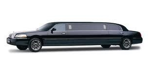 a variety of stretch limos, white, black, gray