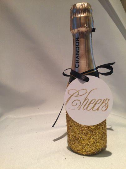 glitter mini champagne