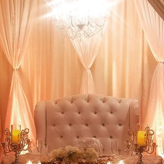 Love seat for the couple