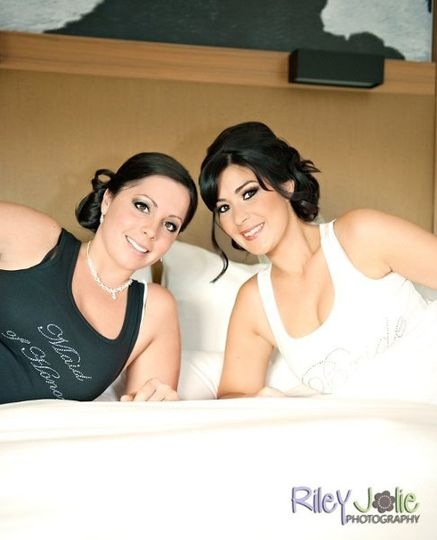 Custom Rhinestone Bride & Maid Of Honor Tank.