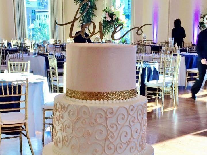 Tmx 1468333644118 Blush And Gold 2 Menomonee Falls, WI wedding cake