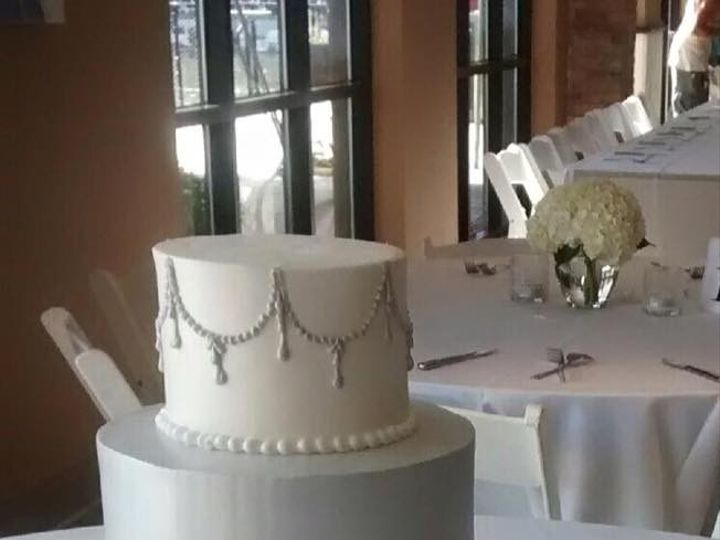 Tmx 1468334151173 Rosettes And Silver Menomonee Falls, WI wedding cake