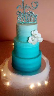 Tmx 1532741425 Bc1b0f8b6b19c25c 1532741425 261ad59e32154a65 1532741433853 6 Ombre In Teal Menomonee Falls, WI wedding cake