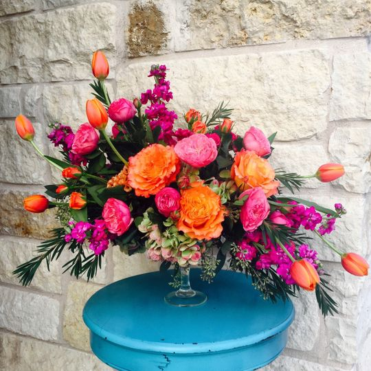 Orange and pink flowers