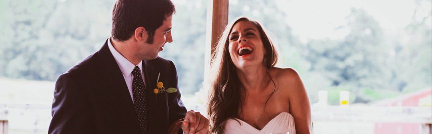 laughing bridal party bridesmaid grandentrance con