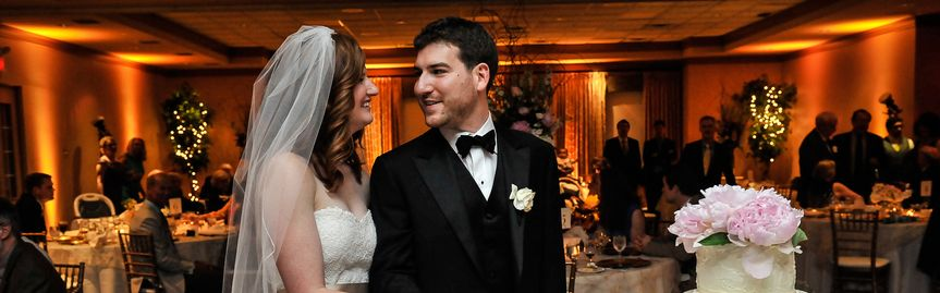 wedding reception rosemont country club bride groo