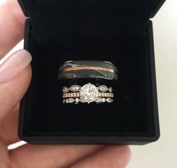 Wedding rings in box