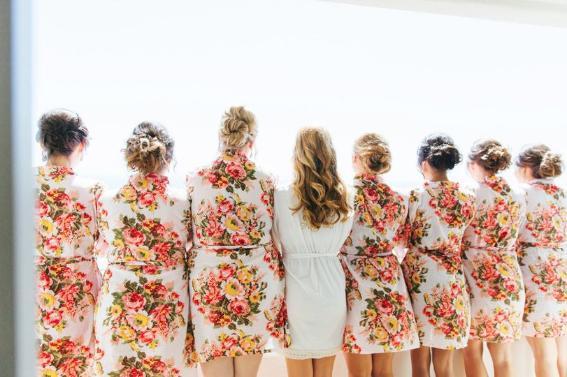 Bride with her girls
