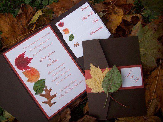 Fall invitation in beautiful autumn colors