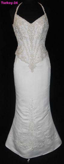 marys org 799 white 8 formal wedding dress chiffon