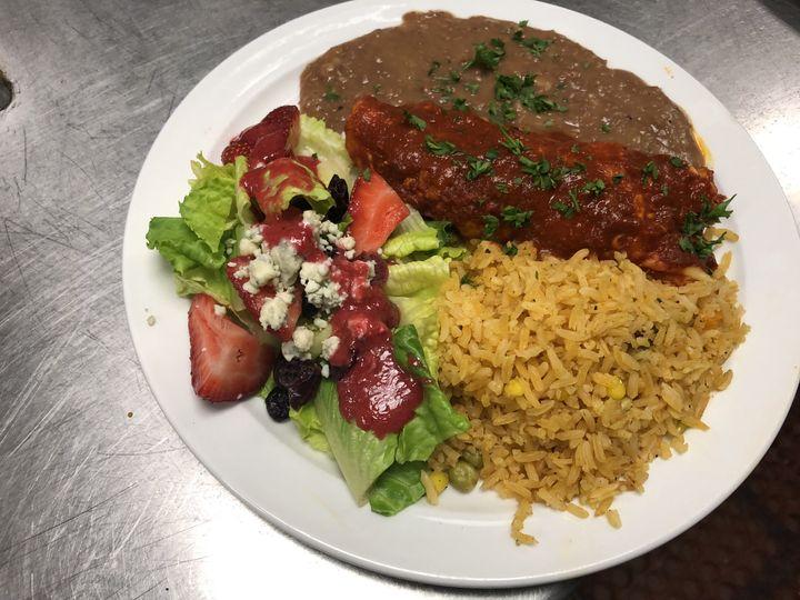 Tmx Enchilada Spanishrice Refriedbeans Strawberrysalad 51 111834 V1 San Luis Obispo, CA wedding catering