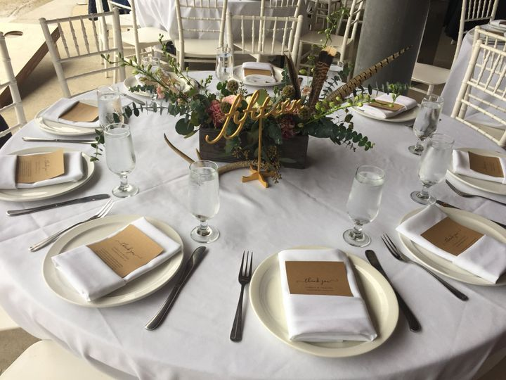 Tmx Thin Rimmed Plate Three Prong Flatware Set Water Glass 51 111834 V1 San Luis Obispo, CA wedding catering