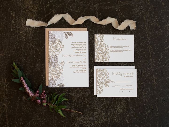 Tmx 1456846670557 Styled Wedding Shoot August 2015 Styled Wedding Sh High Point, NC wedding invitation