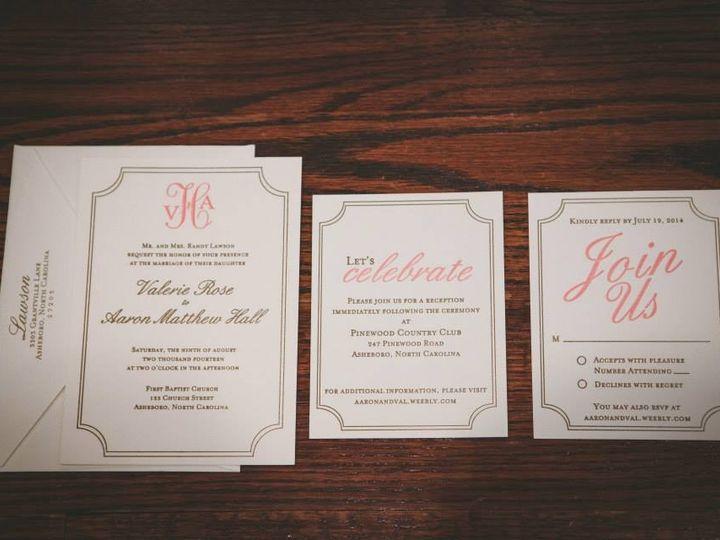 Tmx 1456846964813 10410763101526015022963295630939833092075942n High Point, NC wedding invitation