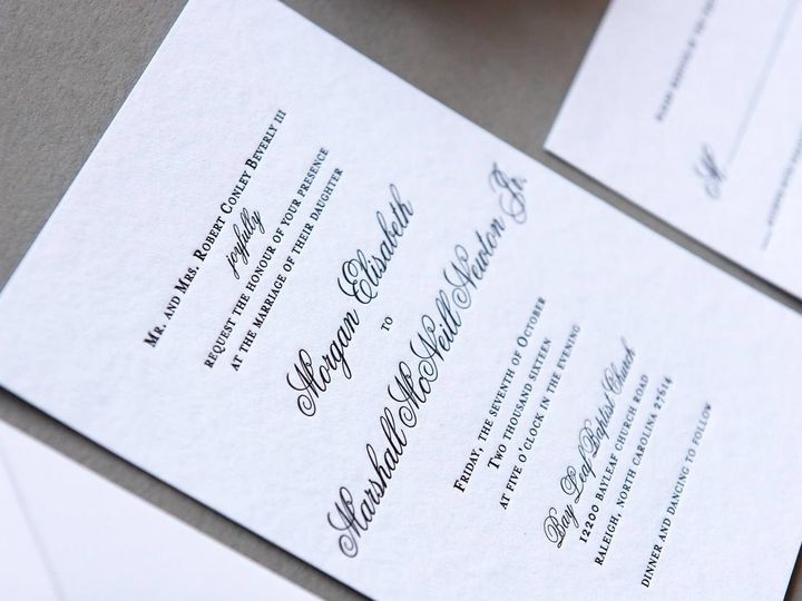 Tmx 1504206630248 1597513313828255384042882049613524355535826o High Point, NC wedding invitation
