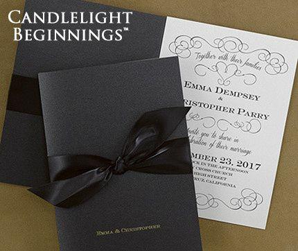 Tmx 1381259605885 Blackgoldweddinginvitations Conshohocken wedding invitation