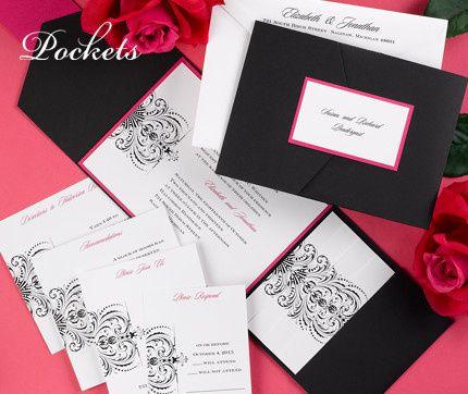 Tmx 1381259611056 Blackpinkpocketweddinginvitations Conshohocken wedding invitation