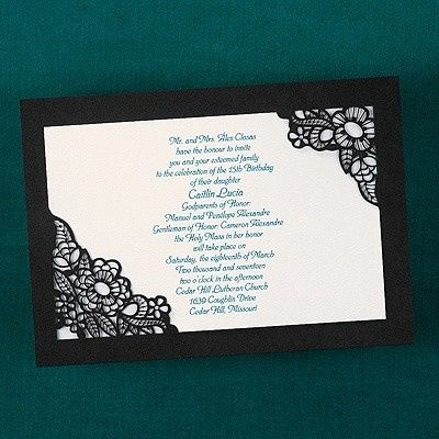 Tmx 1381259612803 Blackwhiteblueinkweddinginvitationscutoutflowers Conshohocken wedding invitation