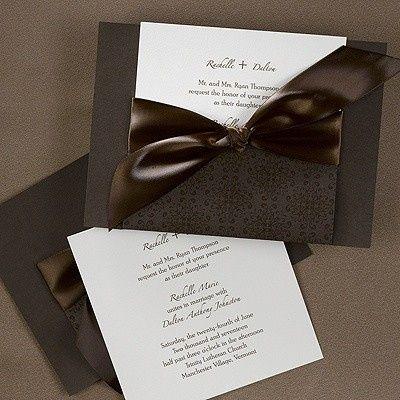 Tmx 1381259628588 Largebowbrownweddinginvitations Conshohocken wedding invitation