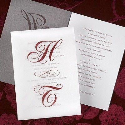 Tmx 1381259632171 Monogramparchmentseethroughweddinginvitations Conshohocken wedding invitation