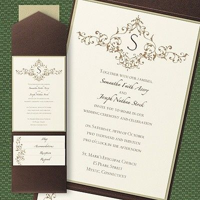 Tmx 1381259640831 Pocketbrownweddinginvitations Conshohocken wedding invitation