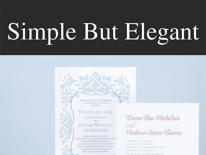Tmx 1458158523214 Simplebutelegant Conshohocken wedding invitation