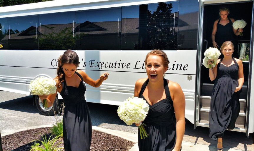 limo coach bridal party