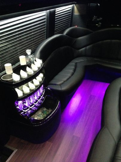 Mercedes Executive Limo Bus Interior