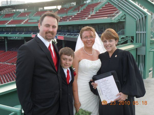 Family and the officiant
