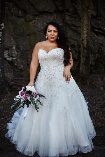 Plus size beaded wedding dress