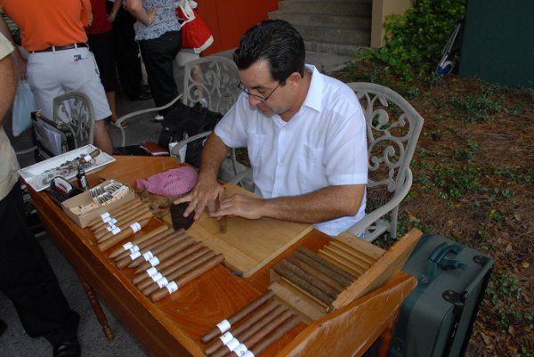 "My ""Maestro"" Tony ...Rolling our ""Premium Cigars"" for everyone's ""Smoking Pleasure"" at Jacaranda..."
